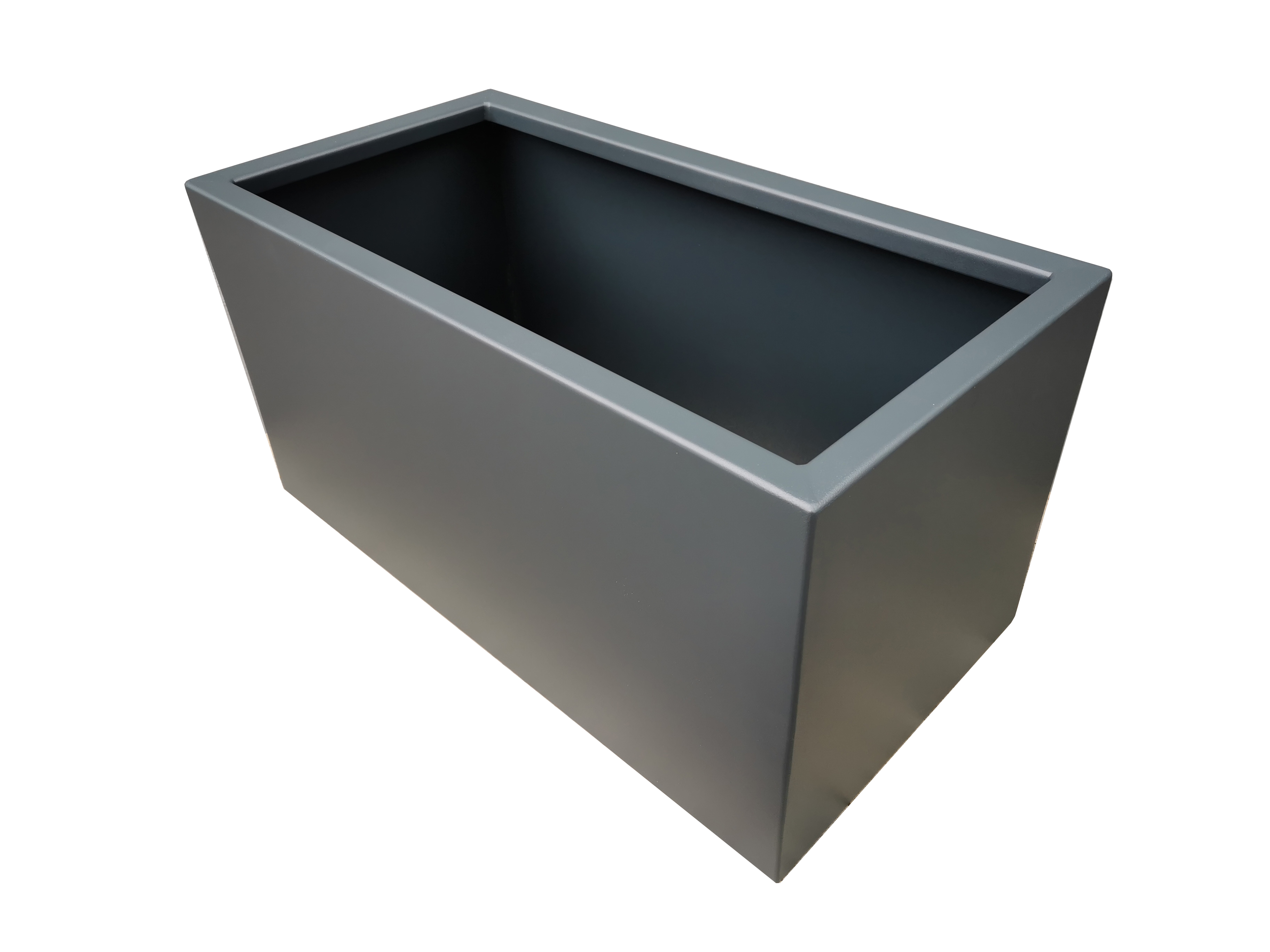Moderne Pflanzkübel aus Aluminium